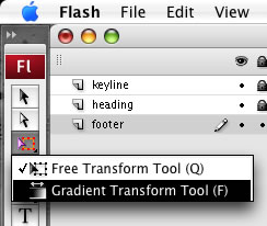 Loation of the Gradient Tool