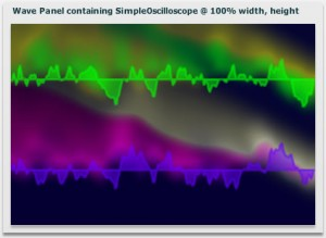 SimpleOscilloscope snapshot - with filters