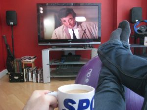 Watching Columbo from my sofa point of view